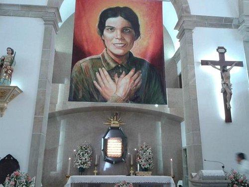 Banner dentro do santuário
