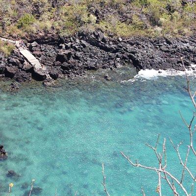 Bajada al mar en Cerro Tijeretas