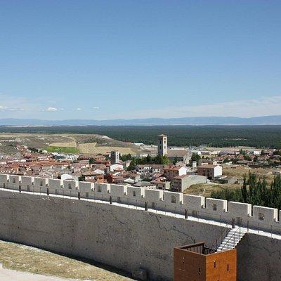 Vista al Mar de Pinos desde la muralla de Cuéllar