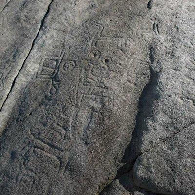 Petroglifo en A Caeira (Poio)
