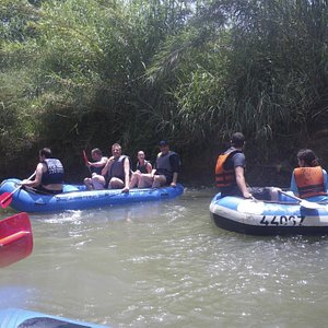 kayaking on the Jordan river with a group fro Germany, 2013