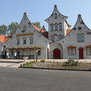 Het ontvangsgebouw van Sprookjeswonderland