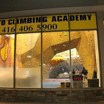 Toronto Climbing Academy- exterior view at night