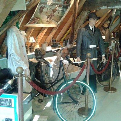 Upstairs exhibits