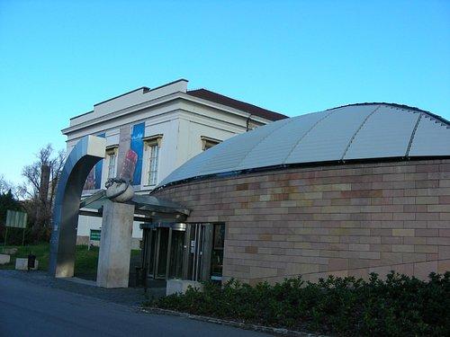 A entrada para o museu...