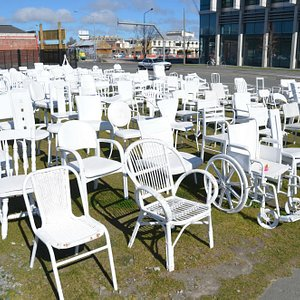 185 empty chairs on a sunny day ....