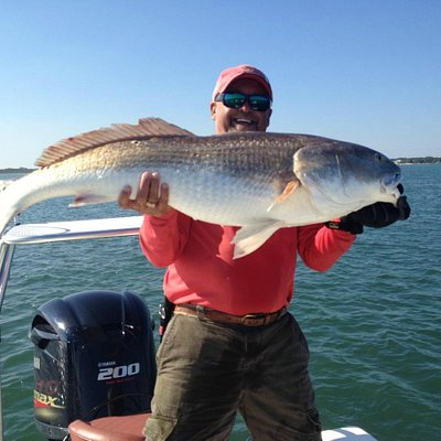 Bull Red fishing Ponce Inlet