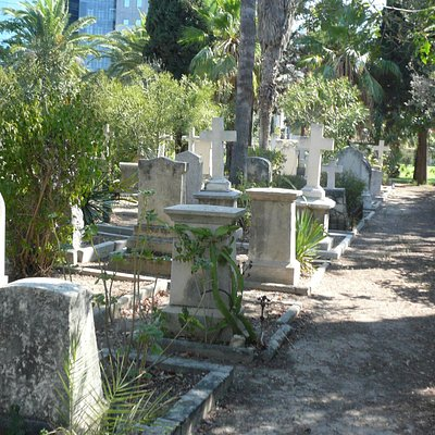 View over the cemetary