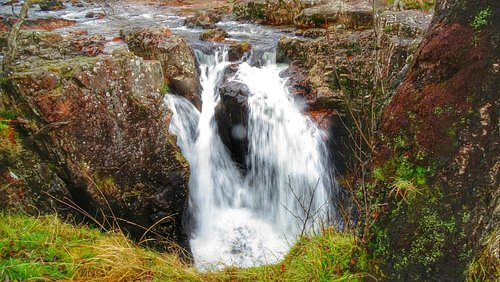 Glen Nevis Falls on trip out with the Coach  Nov. 2014