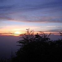 二尖山夕陽