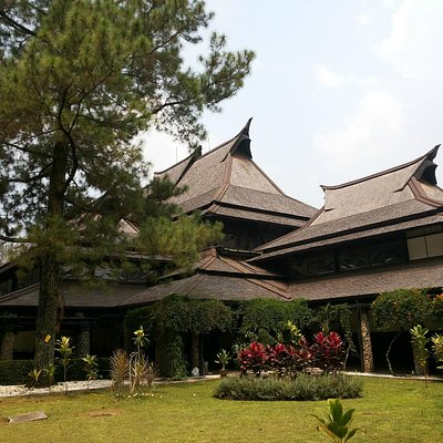 Beautiful traditional architecture of East Hall, ITB