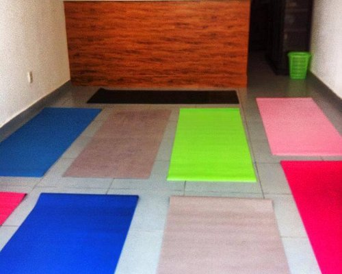 Our yoga space. :)