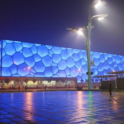 Night View of the Water Cube.