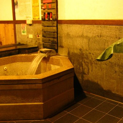 Hotspring bathroom with Japanese touch