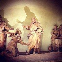 Redentore in casa di Marta e Maria statue in terracotta 1544 antonio begarelli