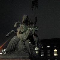 St George and the Dragon at night