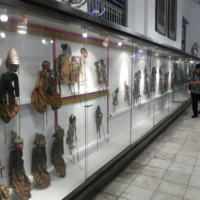 Collection of leather puppet, called wayang in Javanese