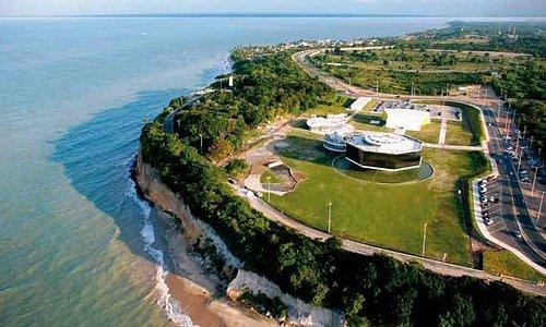 Vista aérea da Estação Ciência