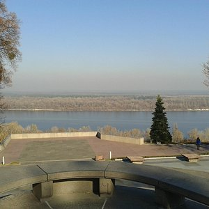 The Dnipro River from the Memorial