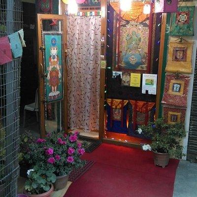Our shop in Mc Leod Ganj Jogiwara road near Carpe diem restaurant