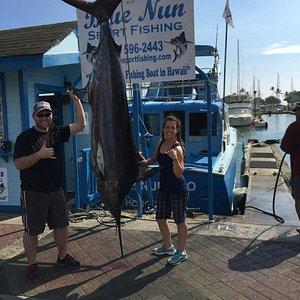 My 255lb marlin - Thanks to Captain Bob and Ray