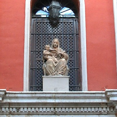 18th Century Statue of Santa Ana on the facade