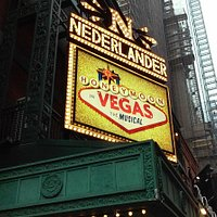 Nederlander Theatre Marquee featuring Honeymoon in Vegas