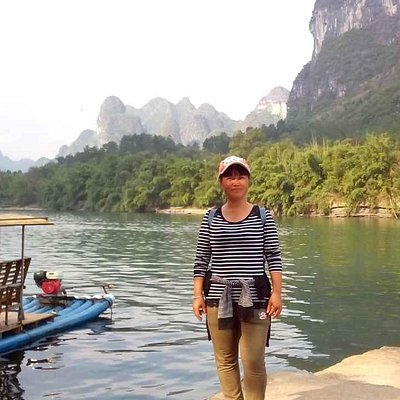 the beautiful landscape in Yangshuo