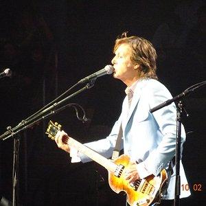 Sir Paul on guitar