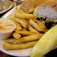 Philly Cheesesteak and fries