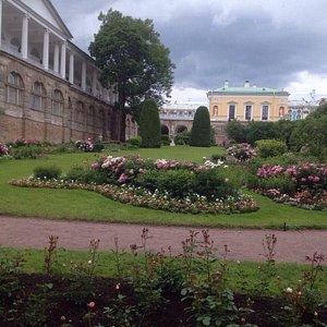 Вид на Фрейлинский садик и Камеронову Галерею (слева)