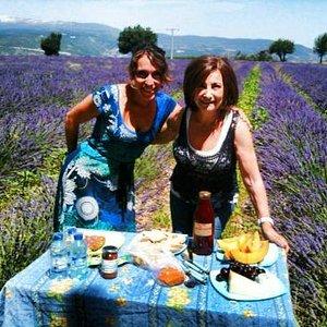 picnic in lavender fields