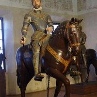 Palazzo Ducale: the wooden statue of Vespasiano Gonzaga, the builder of Sabbioneta
