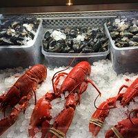 Fresh local seafood