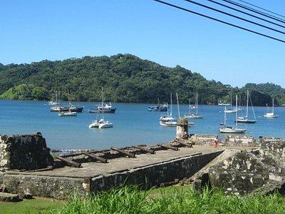 Bahía de Portobelo vista desde el fuerte