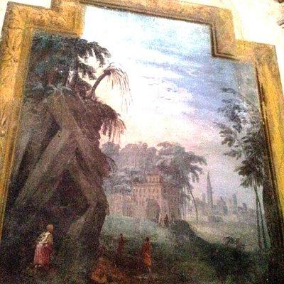 affresco San Rocco nella grotta