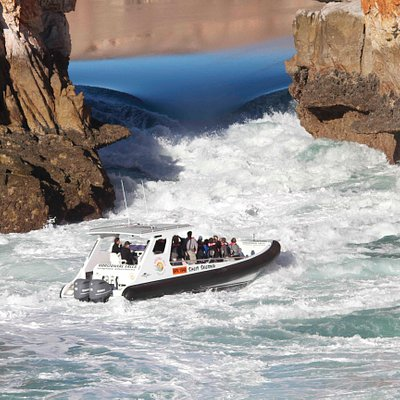 It's time to get the heart rate up, with a ride through the Horizontal Falls on our 900hp fast