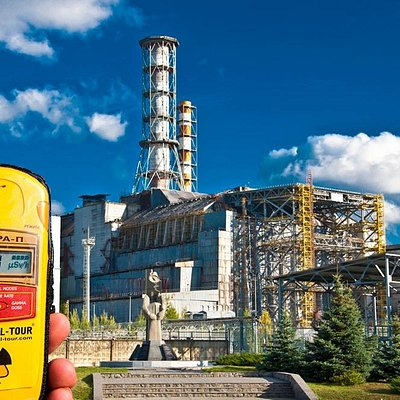 Dosimeter near the Chernobyl Nuclear Power Plant
