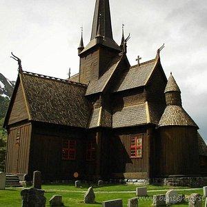 Stave church, Lom, Gudbrandsdalen, Norway