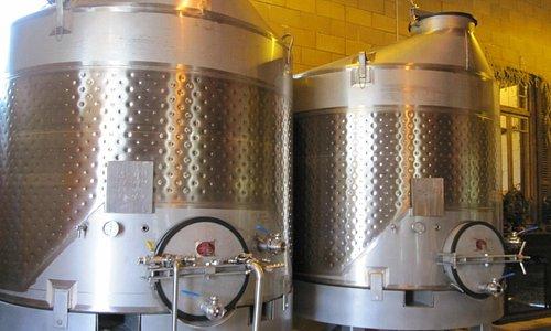 Tanks in Tasting Room