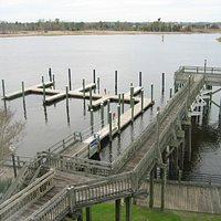 the dock/harbor -- there are no benches at the end of the pier any more