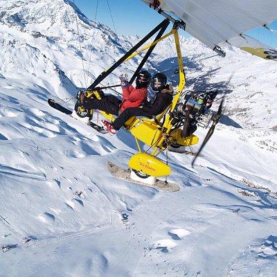 ULM sur le snowpark