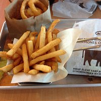 My fries and burger.