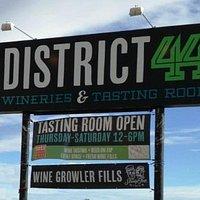 District 44 Wineries Sign on Chinden Blvd.