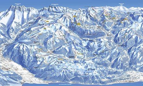 Portes du Soleil gebied met ruim 650km aan piste.