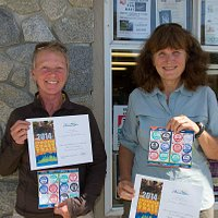 Infront of the Visitors Centre with Sunshine Coast Trail passports