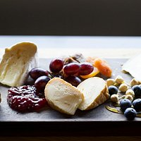 """We have several set cheese boards on our menu, and a monthly """"Cheeseboard of the Month."""""""