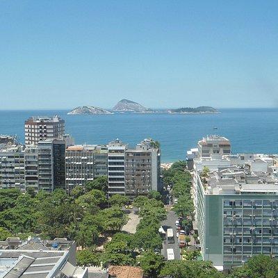 Vista do mar em Ipanema a partir do Mirante