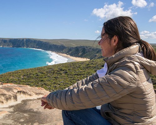 Taking in the view from Remarkable Rocks