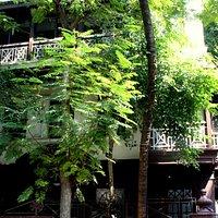 Fachada casa de Gandhi.